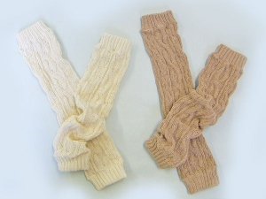 Pompkins Baby有機棉襪套-米白色