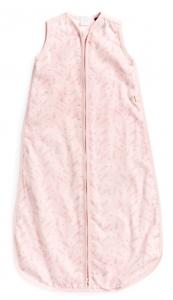 Purebaby  有機棉棉紗睡袋-粉紅純色