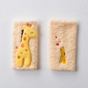 日本妖精之森-純棉揹袋口水巾-黃色