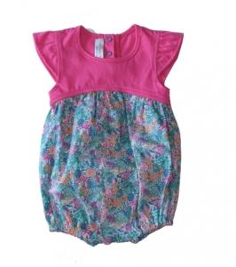 Les Petites Choses有機棉連身裝-玫瑰圖