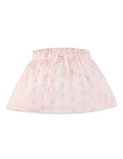 Purebaby 有機棉粉紅純色澎澎裙