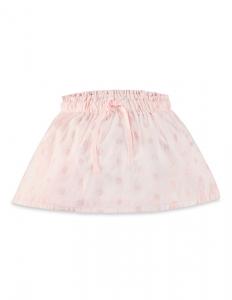 Purebaby 有機棉粉紅純色澎澎裙-粉紅純色2~4歲